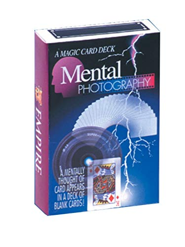 Empire Mental Photography Deck - Thought of Card Appears in a Blank Deck - Magic Trick