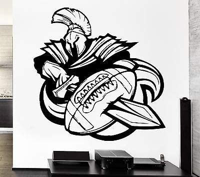 Amazon Com Wall Decal Sport American Football Rugby Ball Warrior Sword Vinyl Decal Ff301 Office Products
