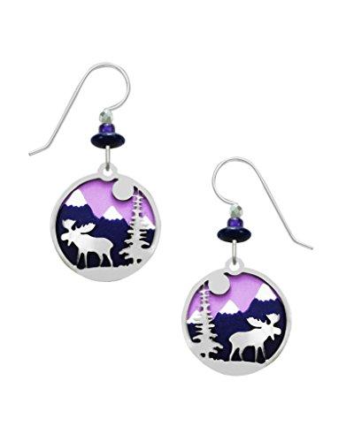 Sienna Sky Purple Moose Overlay Disc Earrings 2011