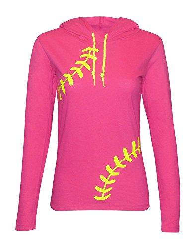 Zone Apparel Softball Women's Hoodie T-Shirt – Laces...