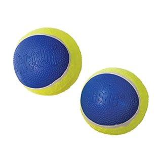 KONG, Squeakair Ultra Balls , Dog Toy Premium Squeak Tennis Balls, Gentle on Teeth, for Large Dogs (2 Pack)