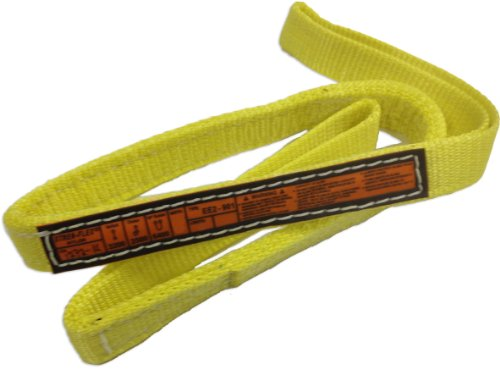 Stren-Flex-EEF1-901-20-Type-3-Heavy-Duty-Nylon-Flat-Eye-and-Eye-Web-Sling-1-Ply-1600-lbs-Vertical-Load-Capacity-20-Length-x-1-Width-Yellow