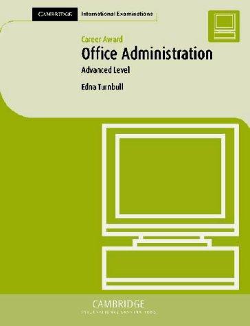 Career Award Office Administration: Advanced Level
