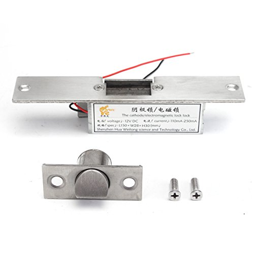 Easyflower Add Much Fun Electric Lock 12V Electric Strike Lock Fail Safe NC Cathode for Access Control Wood Metal Door by Easyflower (Image #1)