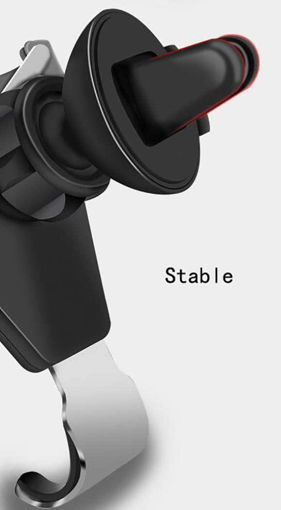 GZJ Car Phone Holder 360 Degree Adjustable Gravity Car Cradle Mount Compatible with iPhone Xs XS Max XR X 8 8 6 5S 4 Samsung S10 9 8 7 6 5 4 LG Huawei,Black SE 6S 6 7 7