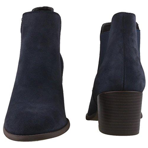 Tamaris 25381 - Botines Chelsea Mujer azul (navy)