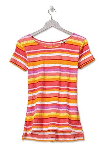Stripe Yarn Awning (Orvis Button-Back Bright-Stripe Slub Cotton Tee, Medium)