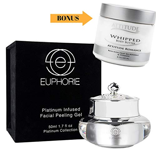 EUPHORIE Chemical Peel Treatment | Platinum Infused Facial Peeling Gel for Face and Skin, Exfoliates, Anti Wrinkle, Removes Age Spots, Dark Circles Under Eyes, Acne 1.7 oz - FREE BONUS LIMITED TIME