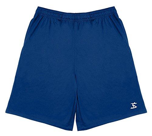 a32bb8ad6d34f UZZI Men's Dri Fit UPF 50+ Shorts (Large, Navy)
