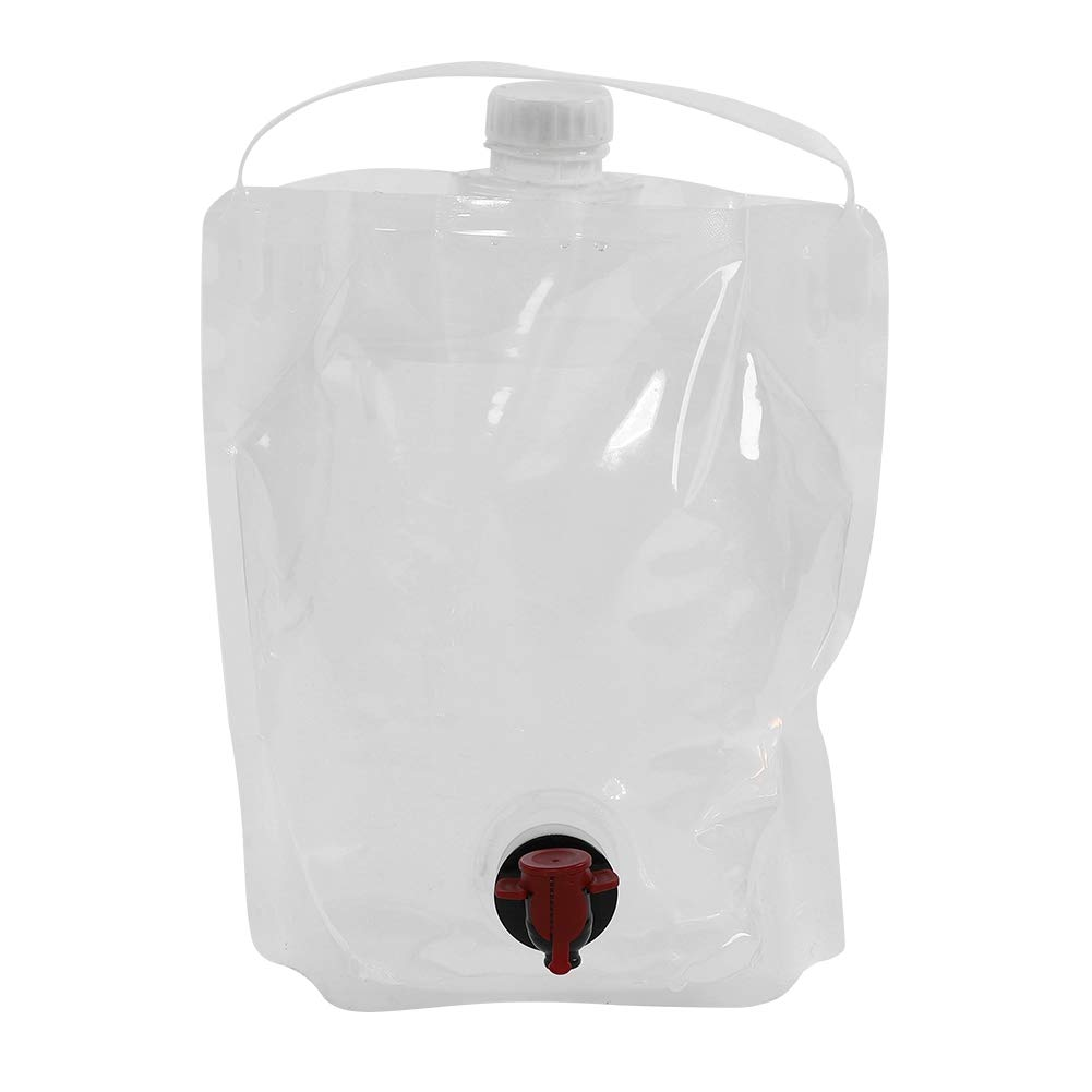 VGEBY Water Storage Bag 5L Collapsible Dual Outlet Emergency Water Container Water Carrier Bag for Outdoor Camping Hiking Climbing