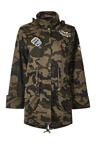 Womens Casual Camo Lightweight Zipper Outwear Jacket Military Camo Coat (X-Large, camouflage)