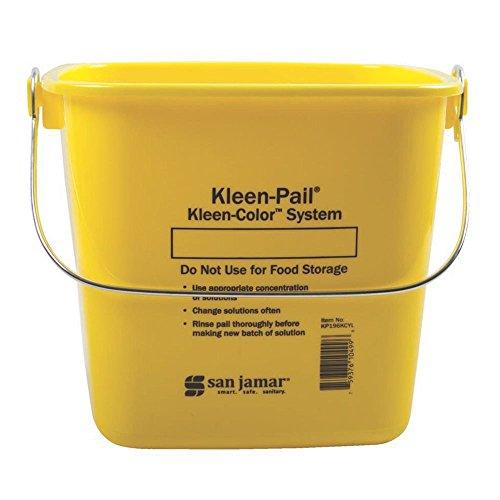 San Jamar KP196KCYL Yellow 6-Quart Kleen-Pail - Kleen Pail