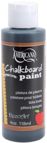 DecoArt DS90-62 Americana Chalkboard Paint, 4-Ounce, Black Slate Chalkboard Paint