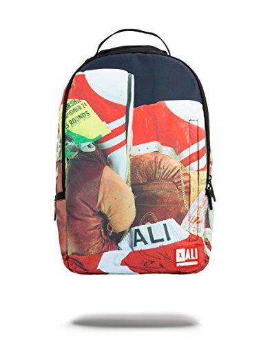 Sprayground Zaino Muhammad Ali Backpack, Art. 9100B926NSZE, con Stampa Rossa e Nera