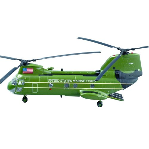 Easy Model American CH-46 Sea Knight Helicopter Model Building Kit Presidential Helicopter