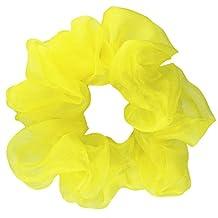 Yellow Organza Scrunchie