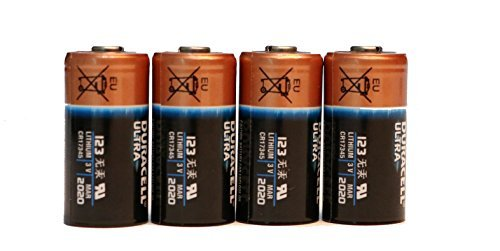6 Count Duracell 123 Ultra Lithium 3V CR17345 Leak Resistant Long Lasting (Duracell Battery Life)