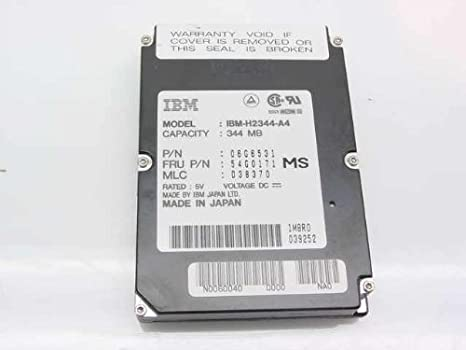 Amazon.com: IBM h2344-a4 IBM ThinkPad 344 MB 2,5 en 17 mm ...