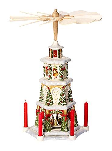Villeroy & Boch Christmas Toys Memory Pyramid, Porcelain, White ...