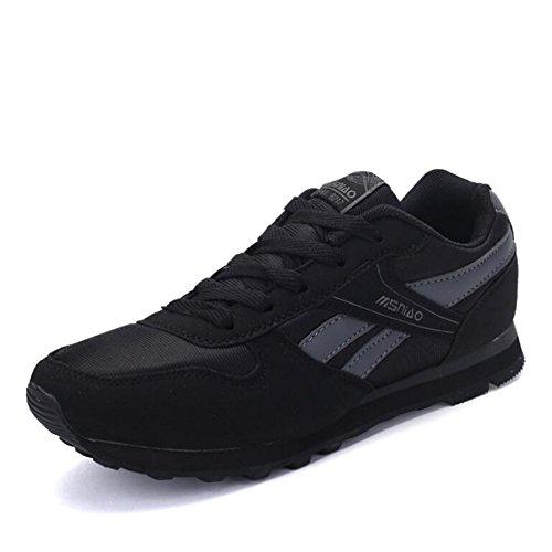 CAI Los Amantes de Las Zapatillas de Deporte 2018 Primavera y Verano Zapatos de Estilo Personas de la Tercera Edad En la Mediana Edad Senior Zapatos Transpirables Zapatos Negro