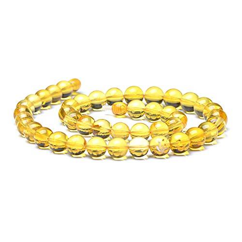Round Bead Necklace - Lemon Baltic Amber Necklace - Unique Women Necklace - Round Shape Bead Necklace