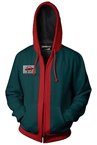 Green Spiderman Costume (YUELIANG Adult Kids Miles Morales Spider-Verse Hoodie Jacket Cotton Cosplay Zip Up Coat Costume)