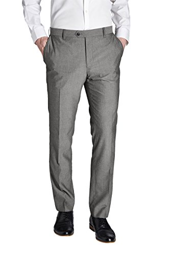 next Homme Pantalon sans pinces Gris Clair 36 / Regular - Slim Fit