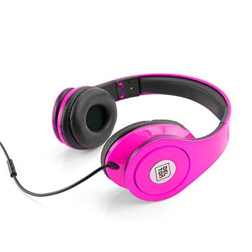- Delton Sonic Wave DJ Headphones, Pink