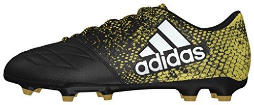 adidas X 16.3 Fg Leather, Botas de Fútbol para Hombre Negro (Negbas / Ftwbla / Dormet)