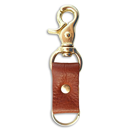 le Brown Leather Key Chain :: Handmade in Austin, Texas….Western Style :: Great Practical Gift by Hatton Henry (Handmade Leather Keychain)