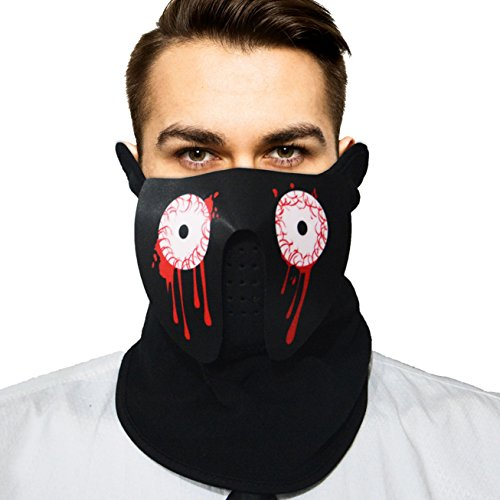 Music Led Flashing EL Panel Party Costume Mask with Sound Active for Dancing, Riding, Skating, Party and Any Festival (Blood (Sound Of Music Costumes To Make)