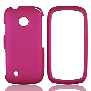 Talon Rubberized Phone Shell for LG VN270 Cosmos Touch - Verizon/US Cellular - 1 Pack - Case - Retail Packaging - Hot Pink
