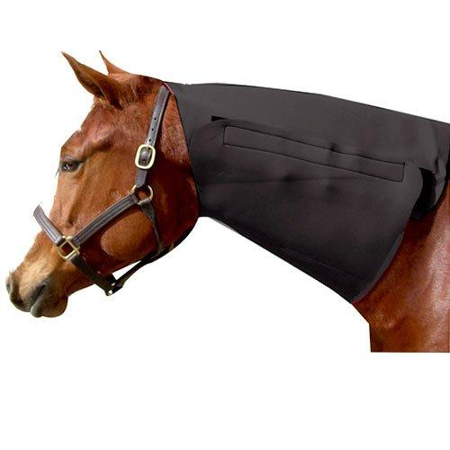 Intrepid International Neoprene Neck Horse Sweat, Black - Neoprene Full Neck Sweat