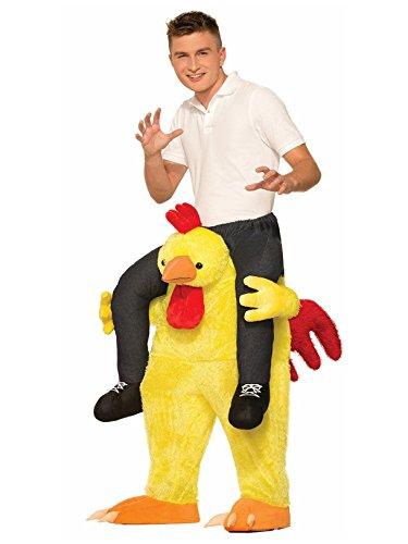 Mens Chicken Costumes - Forum Novelties Men's Chicken Fight Costume, Yellow, Standard