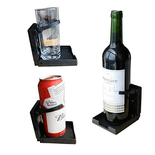 Thlevel Pack de 2 recipientes Plegables Ajustables universales para Bebidas Coche Truck Boat Van Home Plastic 99mm Negro