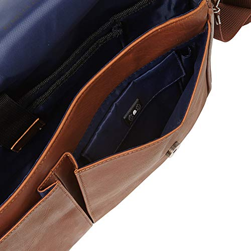 Kenneth Cole Reaction Come Bag Soon Colombian Leather Laptop & iPad Messenger, Brown