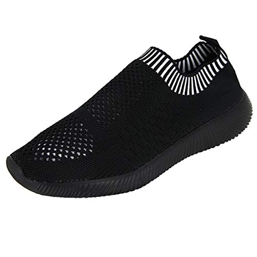 OrchidAmor Women's Flying Weaving Socks Shoes Sneakers Casual Shoes Student Running Shoes 2019 Summer Black
