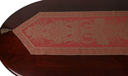 Tessitura Pardi Cerere Coloniale Misto Linen Red Italian Table Runner 13