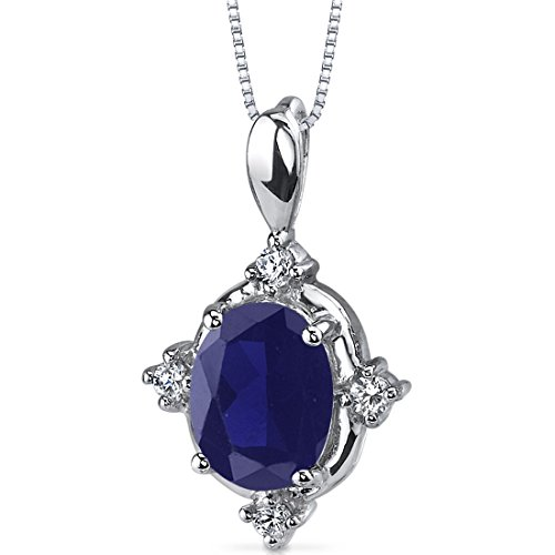created-sapphire-pendant-necklace-sterling-silver-rhodium-nickel-finish-275-carats-oval-shape