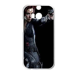 Black Widow The Avnegers Movie HTC One M8 Cell Phone Case White TPU Phone Case SV_040815