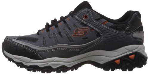 Skechers Sport Men's Afterburn Memory Foam Lace-Up Sneaker, Charcoal, 7 M US by Skechers (Image #5)