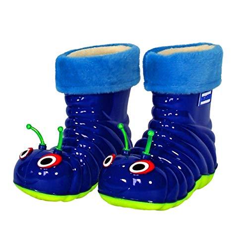 Children's Waterproof Rain Boots Cartoon Animals Toddler/Little Kid (7 M US Toddler), Blue