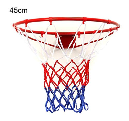 Zhahender Fitness Training 45cm Standard Wall Mounted Basketball Goal Hoop Rim Cylinder Net Outdoor Sports by Zhahender (Image #3)