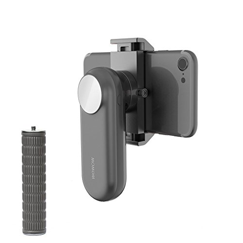 Price comparison product image Wewow Fancy Handheld Stabilizer for iphone Gimbal for Smartphones,  Filmmaker Grip with Powerbank,  LED Fill Flash,  3 in 1 (Gray)
