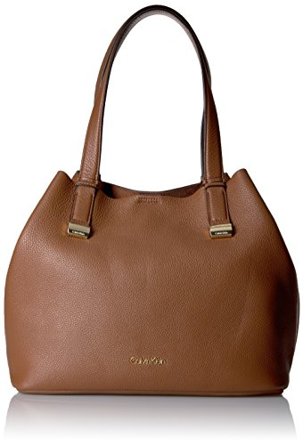 Calvin Klein Rebecca Pebble Hobo Handbag Brown by Calvin Klein