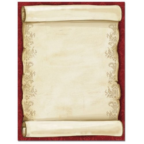 80 Christmas Scroll Stationery Sheets ()