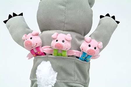 Amazon.com: Big Wolf and 3 Little Pigs Hand and Finger Puppet Set: Toys & Games