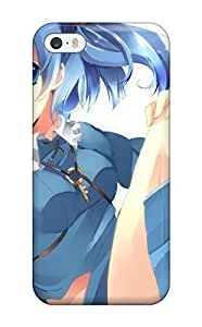 Iphone 6 plus 5.5 Case Cover - Slim Fit Tpu Protector Shock Absorbent Case (boots Video Games Touhou Blue Twintails Open Mouth Bags Kawashiro Nitoriats White Ornaments)