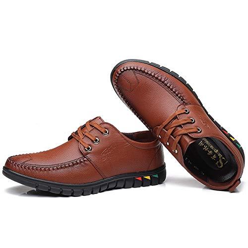 Tendencia Oxford Eu Casual Hombres Mxnet Marrón Formales Los Ligando color Color Puro Simple 39 Zapatos Cómodo Negro Tamaño Moda De dUwqwX