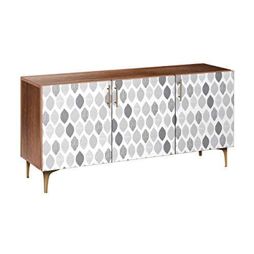 Nye Koncept 13005629 Nordic Clouds Arc Sideboard44; Walnut & Brass from Nye Koncept